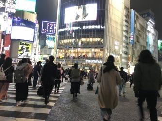 The famous Shibuya crossing