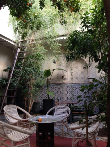 Inside our riad